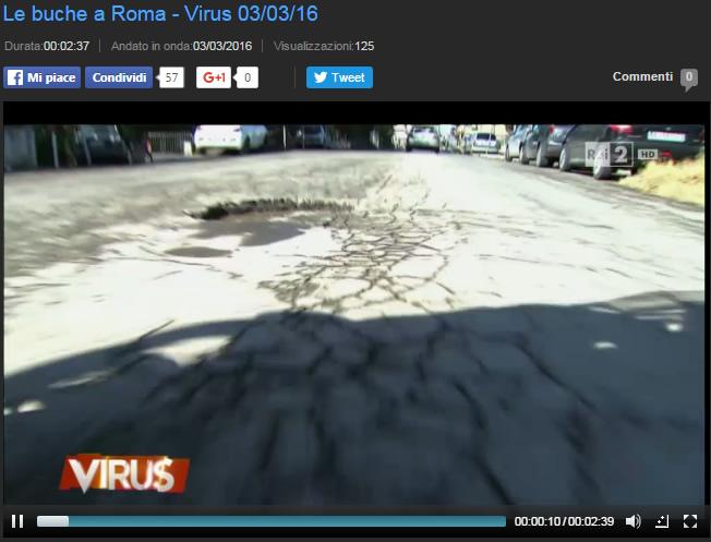 Le Buche a Roma - Trasmissione Virus Rai